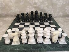 Vintage Marble Chess Set w/ Marble Board