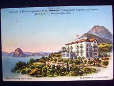 LOVELY OLD PPC~RUVIGLINA-LUGANO~PENSION VILLA FEDERICA~ca. 1923~ILLUSTRATION