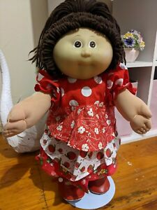 Cabbage Patch Doll Girl Brown Hair & Eyes Freckles 1985 Fully Dressed NOT...