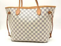 Auth LOUIS VUITTON Neverfull MM Damier Azur Tote Bag Shoulder Bag N51107 V-5193