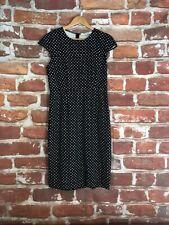 $350 Diane Von Furstenberg 8 M Black White Polka Dot Career Professional Dress
