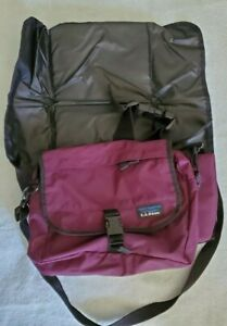 LL Bean Waist Fanny Hip Pack With Fold-Out Padded Seat Purple