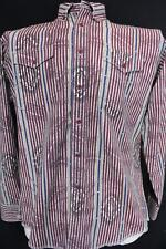 WRANGLER Cowboy Cut REGULAR FIT Long Sleeve BUTTON DOWN Western SHIRT 17 x 35