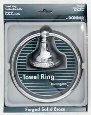 Moen Donner Barrington Collection Towel Ring Forged Solid Brass 4586Ch New
