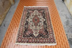 Afghan Hand Knotted Beige Color Wool Oriental Rug Home Decor Rug Floor Mat 4'x6'