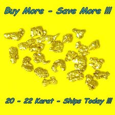 .215 Gram Natural Raw Alaskan Placer Panned Gold Nugget Flake 18-20k From Alaska