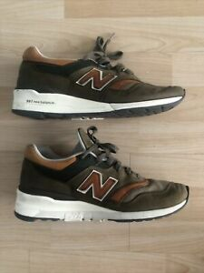 New Balance 997 M997DCS Made In USA Olive Green Tan White Size 9.5 Rare Shoes