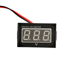Dc 15v To 120v Waterproof Red Led Panel Meter Dc Digital Voltmeter Two Wire New