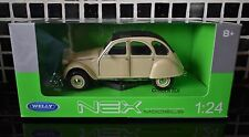 WELLY NEX MODEL OF A WHITE CITROEN 2CV DIECAST MODEL SCALE 1/24 FRENCH CAR  ICON