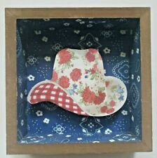 The Pioneer Woman Rose Print Cowboy / Cowgirl Hat Shadowbox NEW