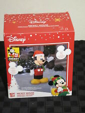Gemmy Disney 3.5 Foot Tall Airblown Inflatable Lighted Mickey Mouse Brand New