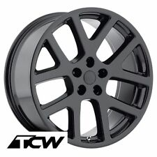 "(4) 22 inch 22x9"" Dodge Viper Style OE Replica Gloss Black Wheels Rims 5x115 +18"