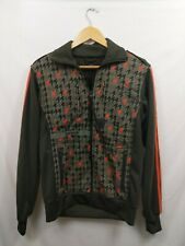 Adidas Mens Green Orange Patterned Full Zip Track Jacket Fleece Size Small WPB4