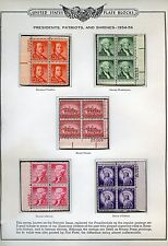 United States Liberty Series Scott#1030/53 Plate Block Set Mint Never Hinged
