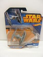 Star Wars die cast blue sw spaceship classic trilogy TIE FIGHTER hot wheels 2015