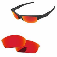 Papaviva Espejo Rojo Fuego Polarizado Lentes De Reemplazo para Oakley Flak Jacket