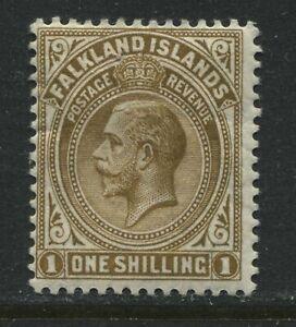 Falkland Islands KGV 1912 1/ bister brown mint o.g.