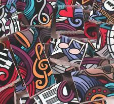 Ceramic Mosaic Tiles - Music Doodle Abstract Art Mosaic Tile Pieces
