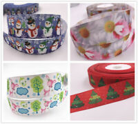 50/100yards Printed Grosgrain Ribbon Dummy Hair Clips Cake Craft Hair Bow 25mm