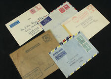 Lot of 5 Interesting Sweden Covers Military, Airmail, Machine Stamped +