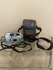 Pentax Iqzoom 160 35mm Point & Shoot Film Camera - Tested - w/ Case