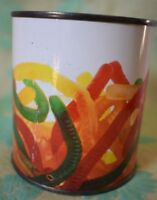 Gummy Worm Theme Bank Great American Opportunities  Tin Can removable bottom