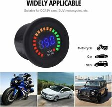 12v Waterproof Led Dc Digital Display Voltmeter Battery Monitor For Car Motor