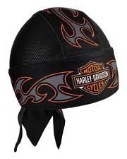 Harley-Davidson Men's Tribal Bar & Shield Air Flow Mesh Headwrap, Black HW18930