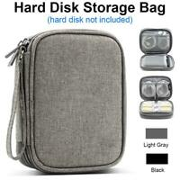 2.5'' SATA External USB Hard Disk Drive Protective Bag SSD HDD Carrying Case