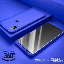 Etui Coque Housse intégrale 360 Pour Samsung A10/A20e/A40/A50 + Verre trempé