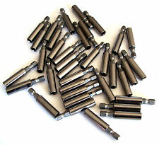 """24 GOLIATH INDUSTRIAL 2"""" MAGNETIC EXTENSION SCREW BIT HOLDER MSBE2 1/4"""" HEX"""
