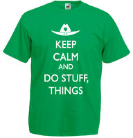 Keep Calm And Do Stuff Things, The Walking Dead inspired Men's Printed T-Shirt