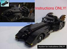 CUSTOM Instructions 1989 Keaton Batman Batmobile (Lego Instructions ONLY!)