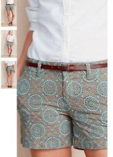 LANDS' END Eyelet SHORTS Size: 2 (EXTRA SMALL) New SHIP FREE 100% Cotton LINED