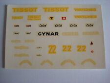 F1 DECALS KIT ENSIGN TISSOT N.177 1977 CLAY REGAZZONI 1/43 DECALS