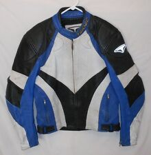 Cafe Motorcycle Jacket Teknic Racing Leathers Tri Color Sport Bike EUR 52 US 42