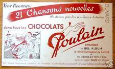buvard CHOCOLAT POULAIN - 21 CHANSONS NOUVELLES