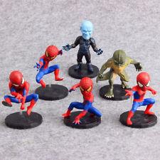 6pcs Marvel Legends Spider-Man Action Figures Doll Kid Cake Topper Decor set Toy