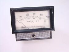 43618 Veeco Weston AC Amperes Amp Meter Ammeter 0-500A 1A inc. 3 Scales Mod 1934