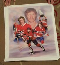 Larry Robinson Autographed Montreal Canadiens Lithograph 25x28