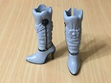 Shoes//Boots Silver//Gray Tall High Heels for Mattel Barbie NEW #2342