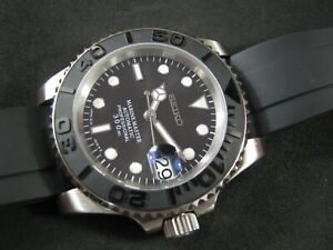 New Mod Seiko Marine Yacht Master NH36 Sapphire Ceramic Water Proof A1 Condition