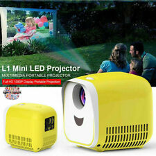 1080P Mini Portable Full HD LED Projector Home Theater Cinema Video USB HDMI AV