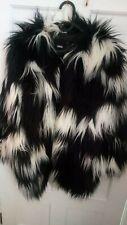 Asos Batwing black and white faux fur coat