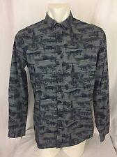 Frank & Oak Button Down Men's Shirt. Large. Tree Graphic.