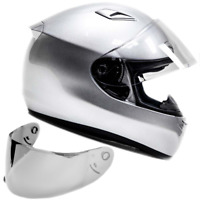SNELL M2015 Helmet Adult Full Face Motorcycle Helmet Silver
