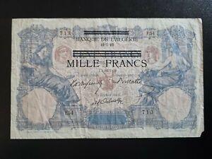 Algérie - 1000 Francs 1892 100 francs Bleu et Rose