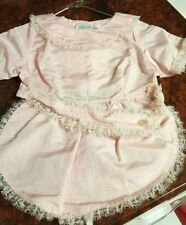 VINTAGE DRESS FOR DOGS, HANDMADE, PINK WITH LACE