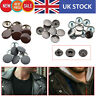 Press Studs 4 Parts S Spring Snap Buttons Fasteners for DIY Leathercrafts 15mm