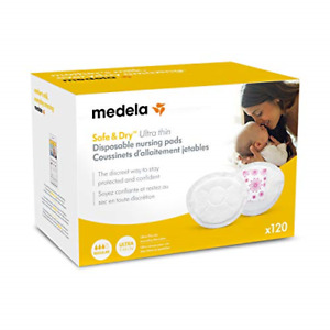 Medela Safe & Dry Ultra Thin Disposable Nursing Pads, 120 Count Breast Pads for